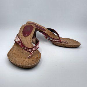 Tribeca Kenneth Cole Thong Heeled Sandal Size 9*